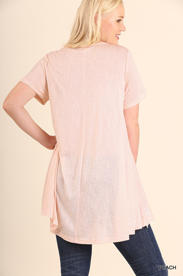 What Are You Waiting For Tunic - Peach - Umgee - Tunic - Angel Heart Boutique  - 6