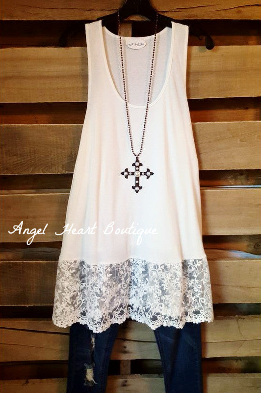 Brand New Day Tank - Off White - Angel Heart Boutique - Tank - Angel Heart Boutique  - 2