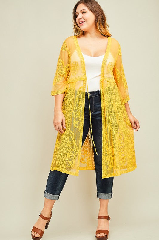 Where My Heart Goes Kimono - Mustard
