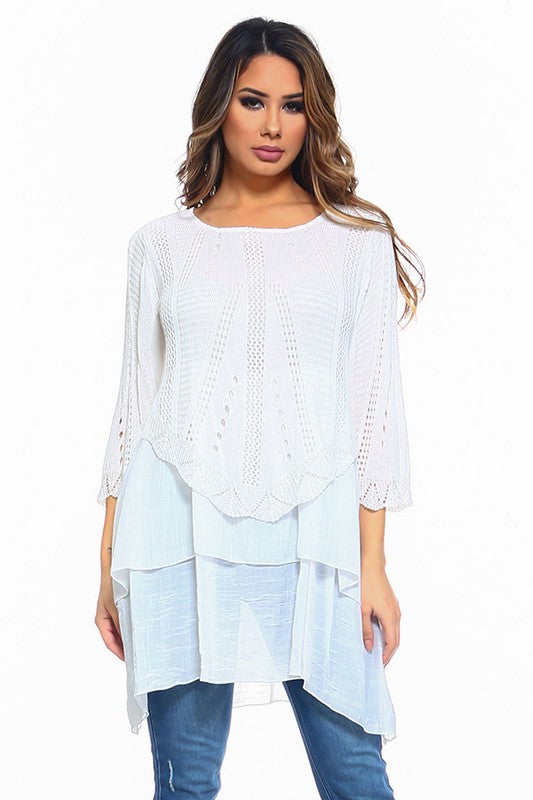 Summer Sunsets Tunic - Off White [product type] - Angel Heart Boutique