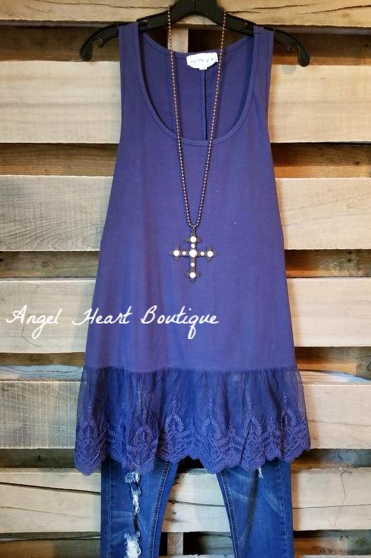 The Perfect Tank - Navy [product type] - Angel Heart Boutique