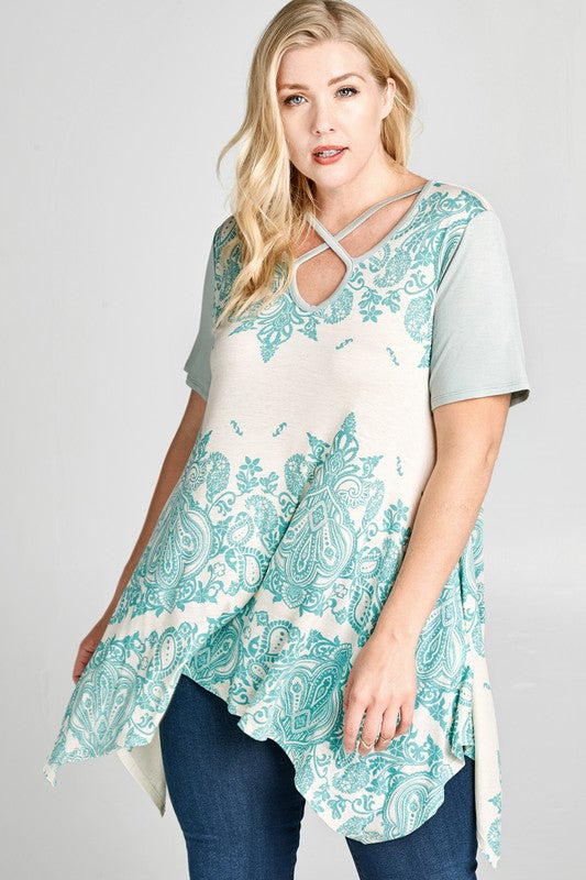 Days Well Spent Top - Mint [product type] - Angel Heart Boutique