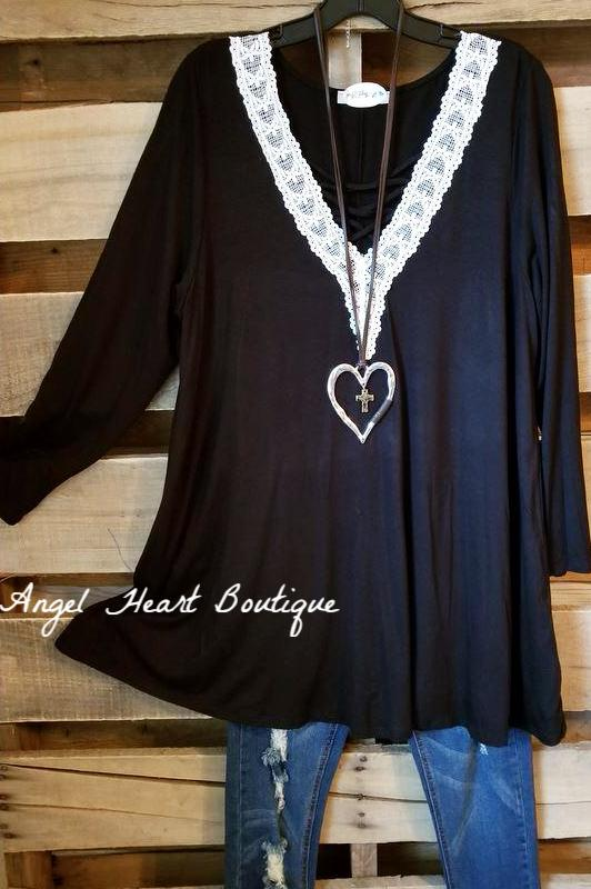 Get What You Want Tunic - Black