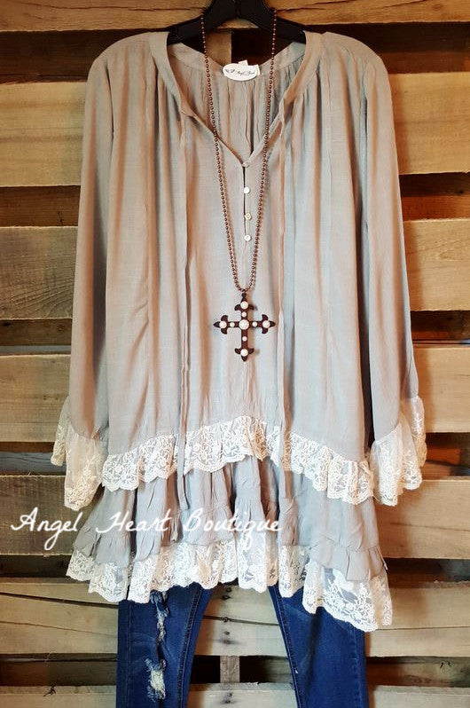 Make Your Mark Top - Gray - Angel Heart Boutique - Dress - Angel Heart Boutique  - 1