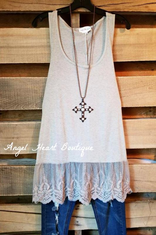 The Perfect Tank - Grey [product type] - Angel Heart Boutique
