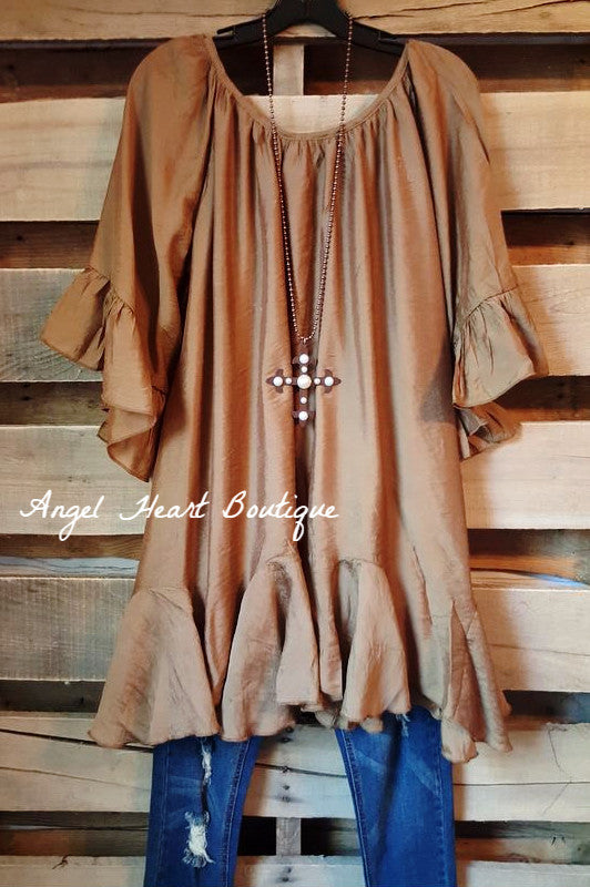 The It Girl Tunic - Rust - Sassybling - Tunic - Angel Heart Boutique  - 2