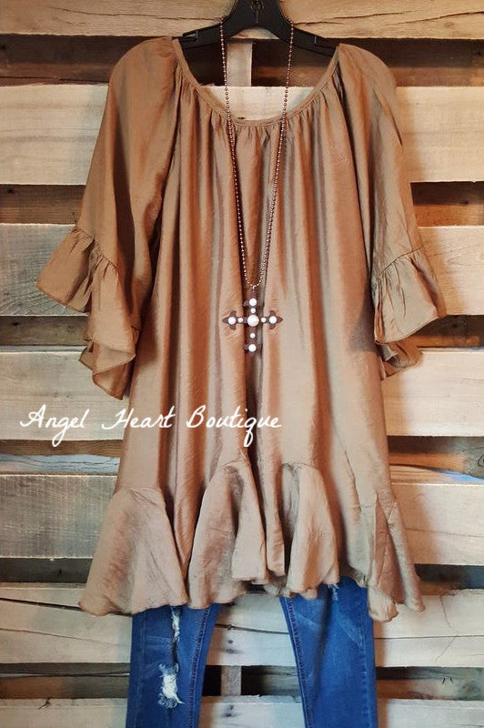 The It Girl Tunic - Rust - Sassybling - Tunic - Angel Heart Boutique  - 1