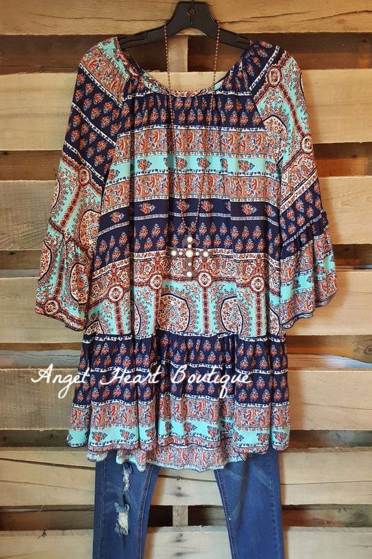 My Favorite Moment Tunic - Blue - Angel Heart Boutique - Tunic - Angel Heart Boutique  - 2
