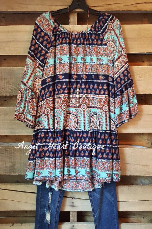 My Favorite Moment Tunic - Blue - Angel Heart Boutique - Tunic - Angel Heart Boutique  - 3