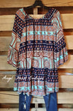 My Favorite Moment Tunic - Blue - Angel Heart Boutique - Tunic - Angel Heart Boutique  - 1