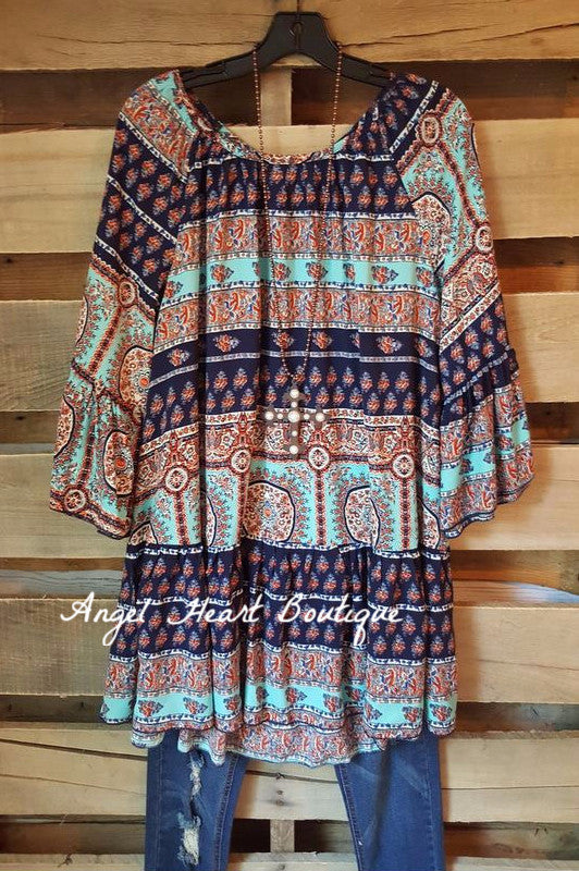 My Favorite Moment Tunic - Blue - Angel Heart Boutique - Tunic - Angel Heart Boutique  - 4
