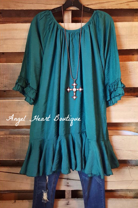 Like No Other Tunic - Teal - Sassybling - Tunic - Angel Heart Boutique