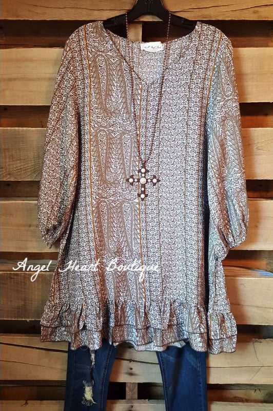 Loving My Life Tunic -Gray - Angel Heart Boutique - Tunic - Angel Heart Boutique  - 2