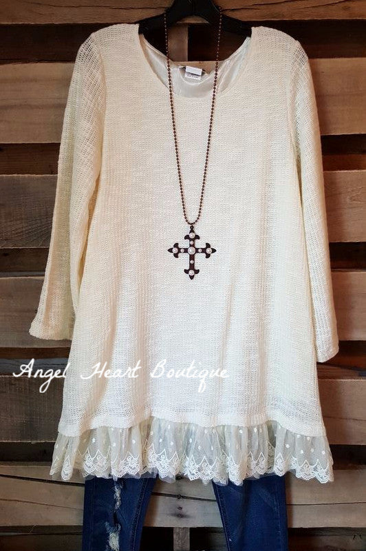 Seemingly Perfect Sweater - Cream - Angel Heart Boutique - Sweater - Angel Heart Boutique  - 1