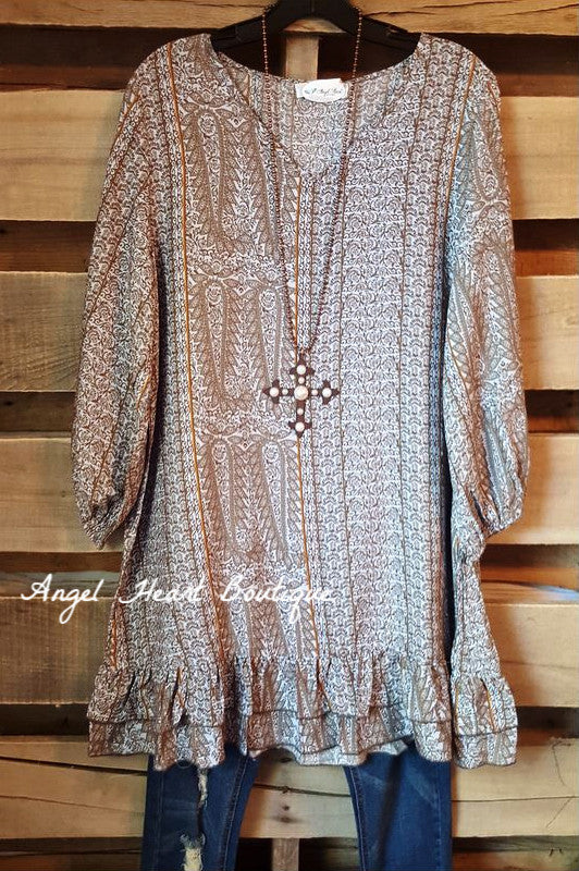 Loving My Life Tunic -Gray - Angel Heart Boutique - Tunic - Angel Heart Boutique  - 1