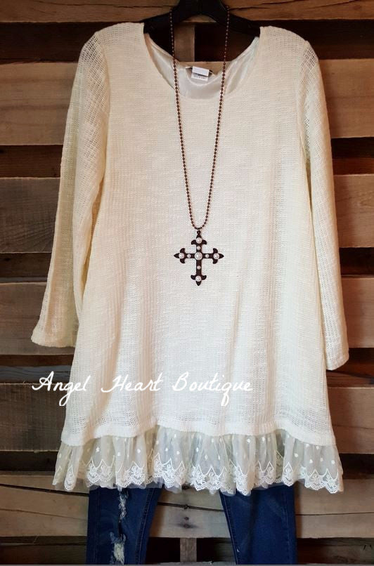 Seemingly Perfect Sweater - Cream - Angel Heart Boutique - Sweater - Angel Heart Boutique  - 4