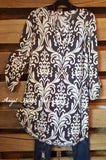 Care To Unwind Tunic - Gray - 2N1 Apparel - Tunic - Angel Heart Boutique