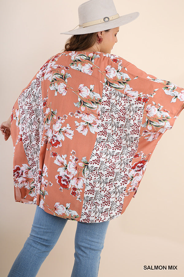 Deserts And Sunsets Kimono - Salmon [product type] - Angel Heart Boutique