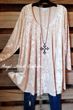 My Velvet Feeling Tunic - Champagne - SALE [product type] - Angel Heart Boutique