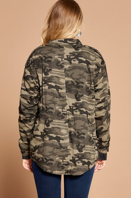 Military Chic Jacket - Camo Grey