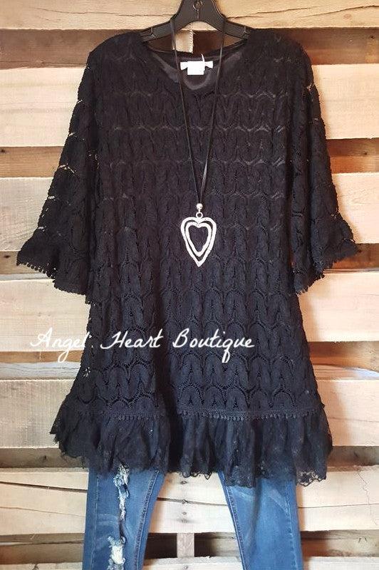Searching For Love Tunic - Black - Sassybling - Tunic - Angel Heart Boutique  - 2