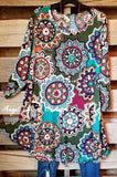 Peace, Love & Mandala Dress - Jade [product type] - Angel Heart Boutique