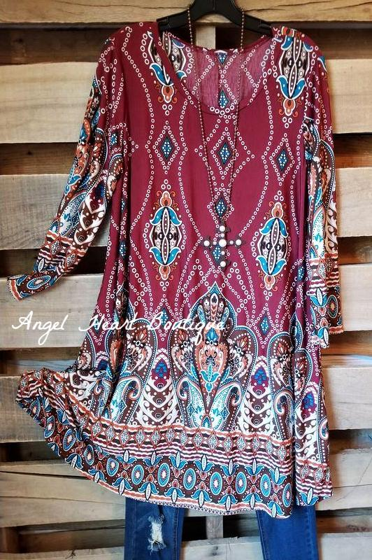 Easy Breezy Vibes Dress - Burgundy [product type] - Angel Heart Boutique