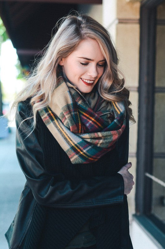 Classy Plaid Scarf - Leto - Scarf - Angel Heart Boutique  - 2