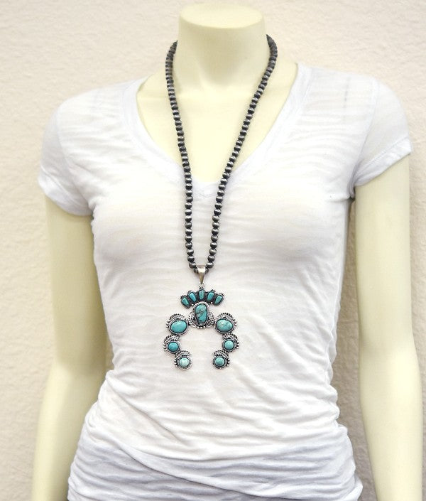 AUTHENTIC TURQUOISE NECKLACE - Oklahoma Necklace [product type] - Angel Heart Boutique