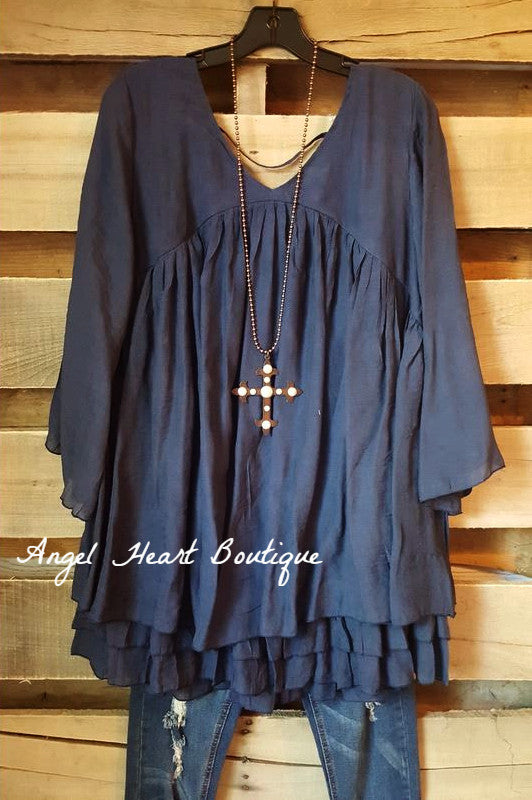 Only Thing That Matters Tunic - Navy - Sassybling - Tunic - Angel Heart Boutique  - 2
