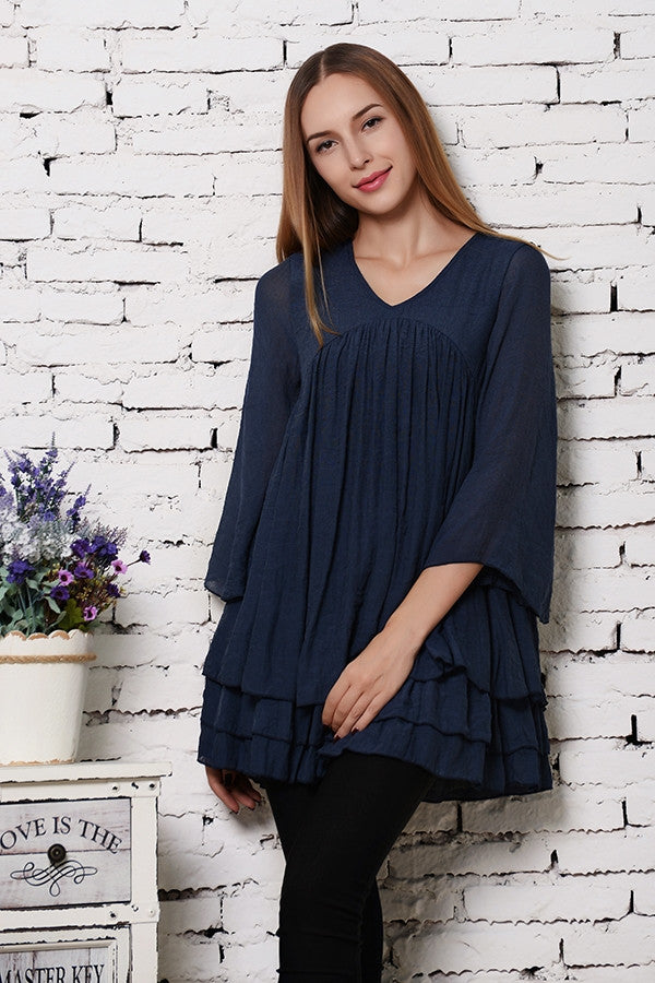 Only Thing That Matters Tunic - Navy - Sassybling - Tunic - Angel Heart Boutique  - 3