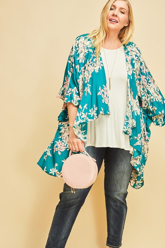 Sweet Sensation Kimono -Emerald [product type] - Angel Heart Boutique