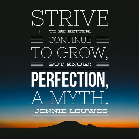 |Perfection a Myth|Quote by Jennie Louwes|