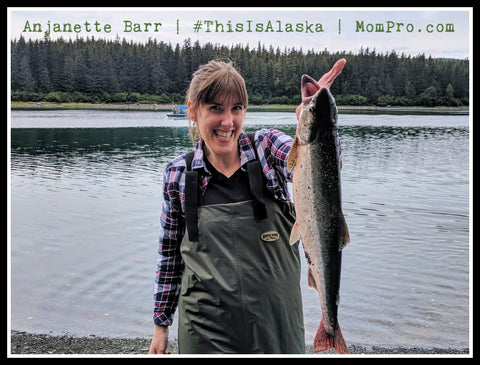 Wild Caught Salmon - Portrait Provided by the Barr Family - Word Overlay by Jennie Louwes