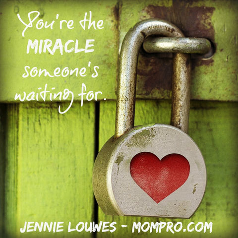 Someone's Miracle - Word Over-lay by Jennie Louwes
