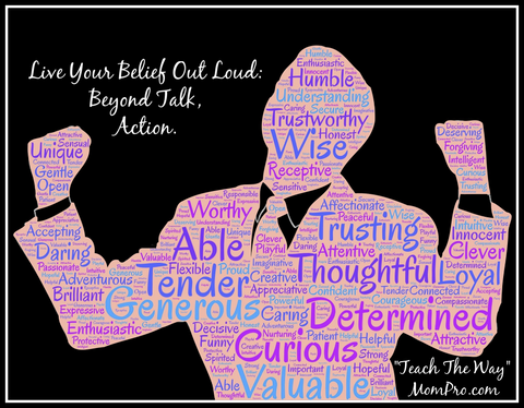Beyond Talk - Image by John Hain via Pixabay - Word Overlay by Jennie Louwes