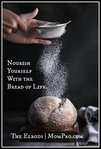 Bread of Life - Image Provided by HoaLuu via Pixabay - Word Overlay by Jennie Louwes