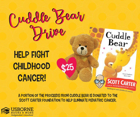 Cuddle Bear Book Drive - Image Provided by Usborne Books and More