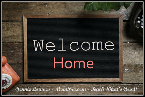Welcome Home - Word Over-lay by Jennie Louwes