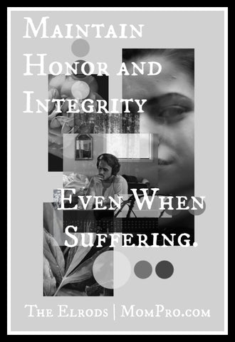 Honor and Integrity - Image Provided by PicMonkey - Word Overlay by Jennie Louwes
