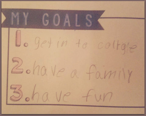 "Israelle ""Izzy"" Mattock's Life Goals - Image Provided by Molly Burke Mattocks"