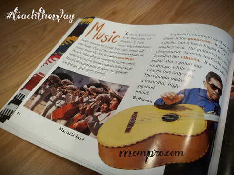 "Musica - Image from ""Look What Came From Mexico"" - Word Overlay by Jennie Louwes"