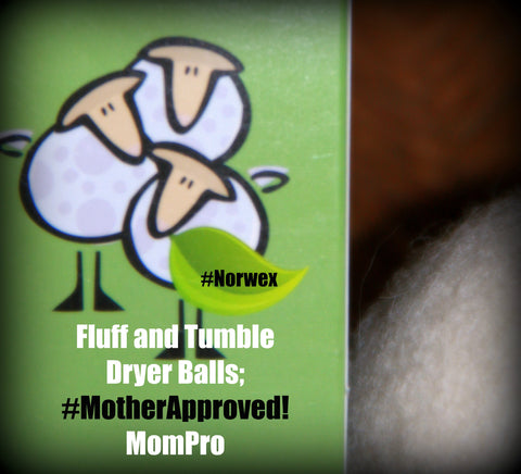 Norwex Fluff and Tumble Dryer Balls- Photograph and Word-Overlay by Jennie Louwes