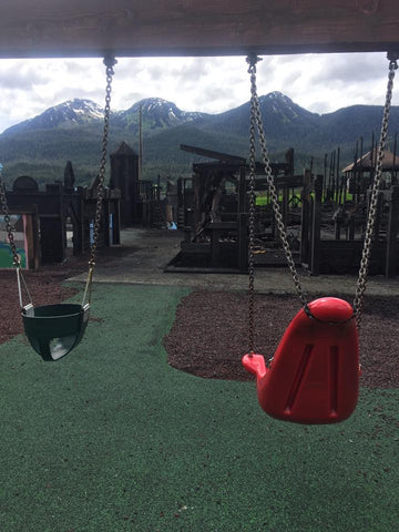 The Desecration Left Behind - Image via Project Playground in Juneau, AK