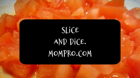 Diced Tomatoes - Photograph, and Word Overlay, by Jennie Louwes