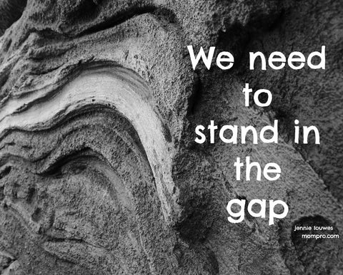 Standing in the Gap - Words by Jennie Louwes