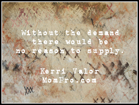 Supply and Demand - Image by jc99301 via Pixabay - Word Overlay by Jennie Louwes
