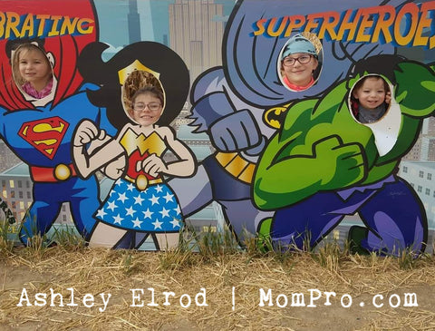 Superheros - Image Provided by The Elrod Family - Word Overlay by Jennie Louwes