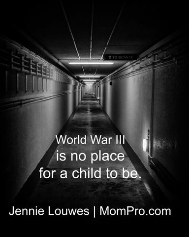 World War III - Photo by hotblack via Morgue File - Word Overlay by Jennie Louwes