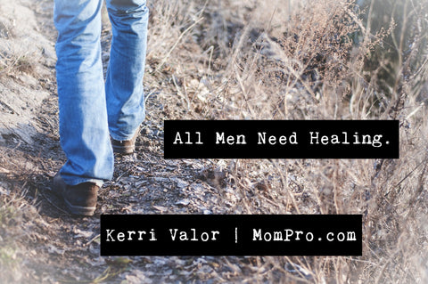 Men Need Healing - Image by Free-Photos via Pixabay - Word Overlay by Jennie Louwes